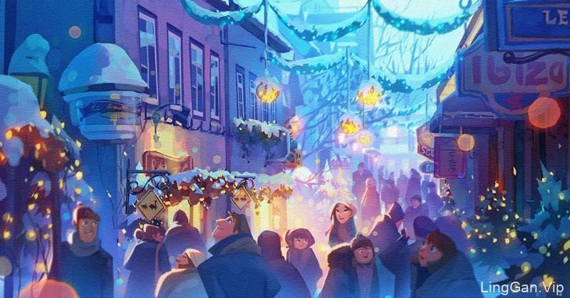 热爱生活!22款城市场景插画