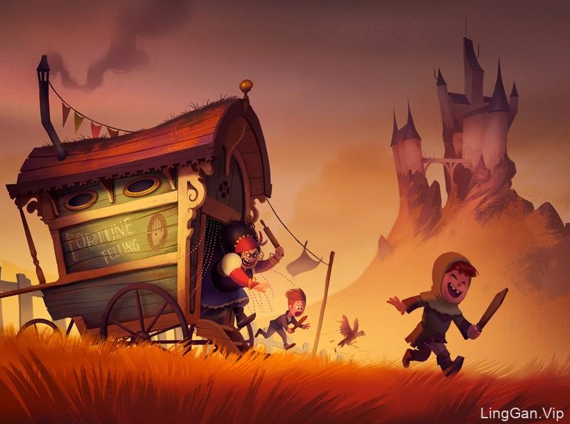 梦幻有趣!10款卡通数字插图