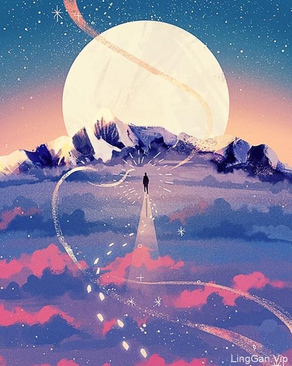 画笔下的奇思妙想!12款梦幻手绘插图