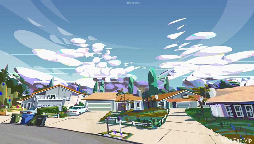 美好静谧!16款风光建筑插画设计