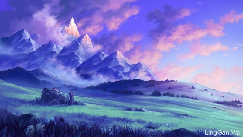 安静且美好!风景主题插画