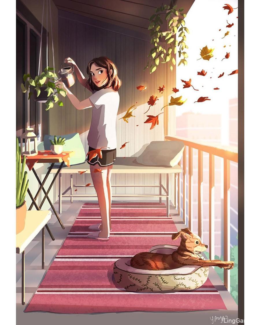 自然温馨!20款生活日常插画分享