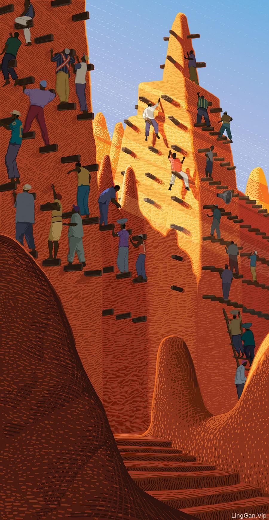 Sam Chivers设计的一系列插画海报