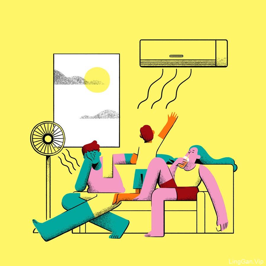 9款网页设计中的扁平风格插画灵感