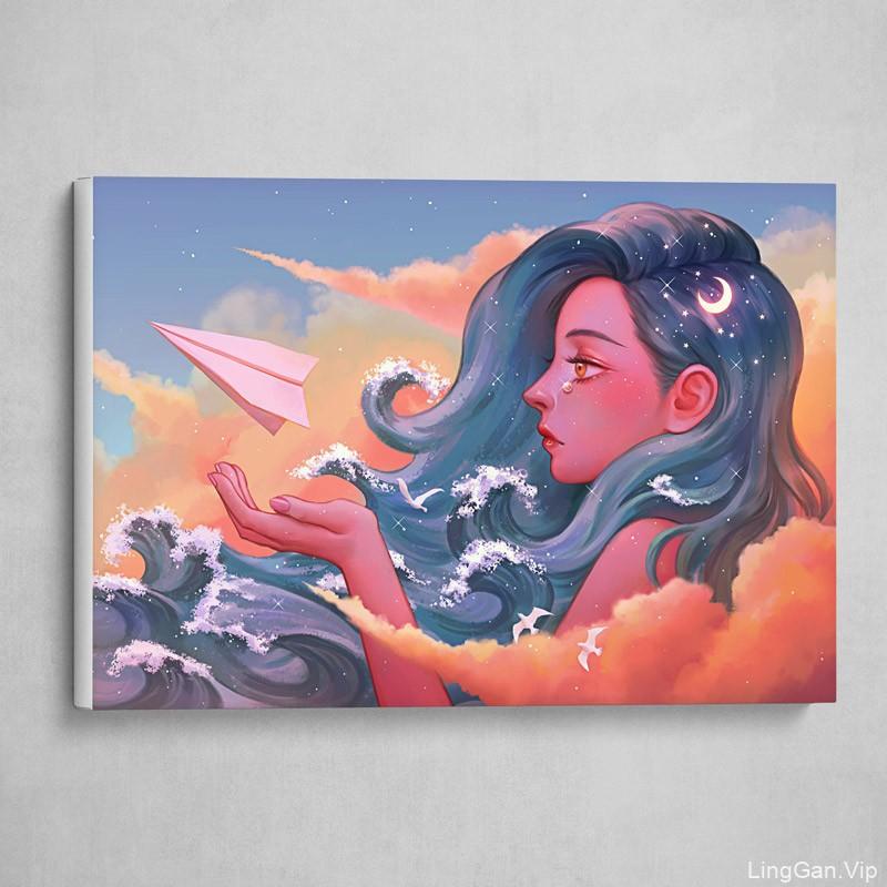 插画师Karmen Loh笔下的梦幻少女