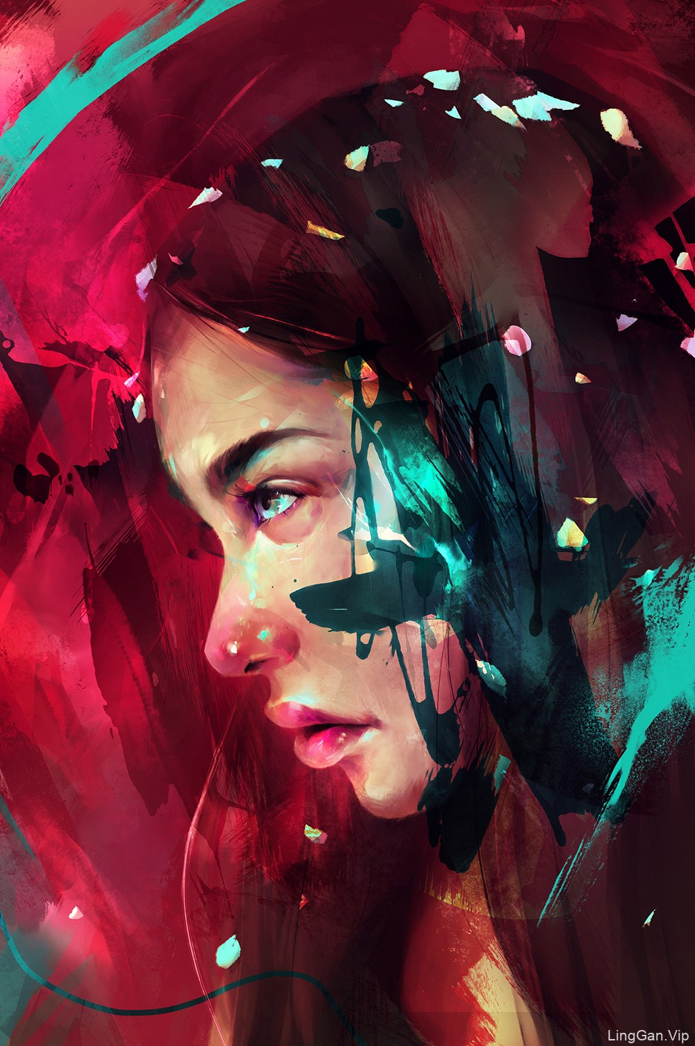 14款色彩饱满的人物肖像插画