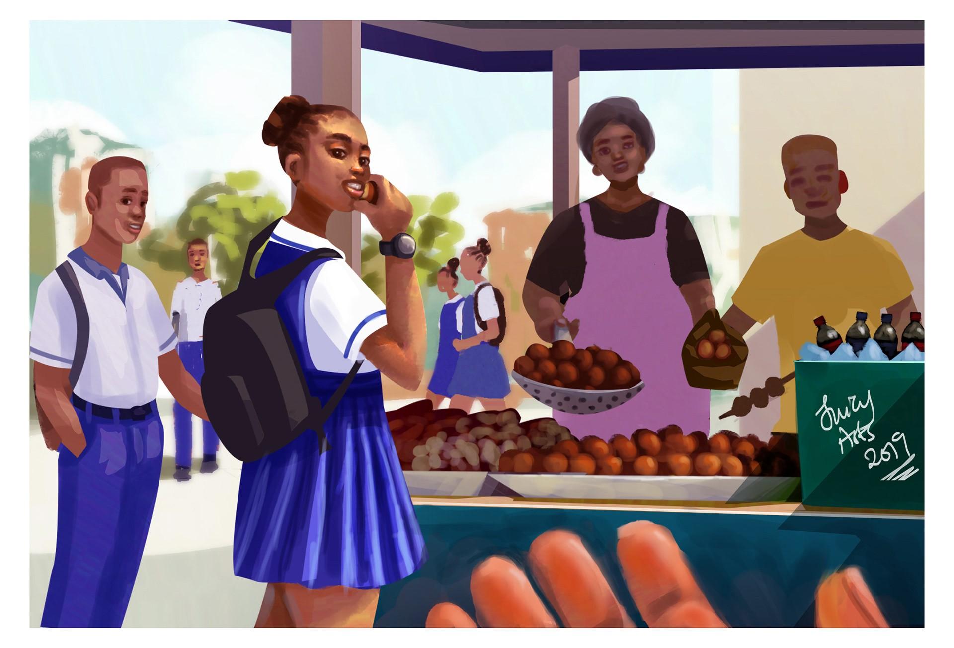 12款Godwin Juliet的鲜艳跳脱的人物场景插画