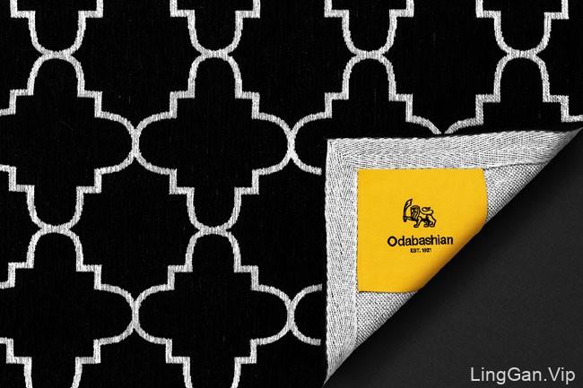 国外精致的Odabashian手工编织地毯品牌设计效果