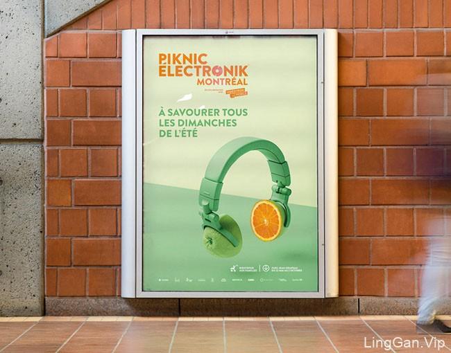 国外PiknicElectronik电子音乐节平面广告设计
