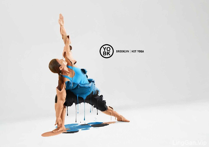 美国YOBK高温瑜伽经典创意广告设计