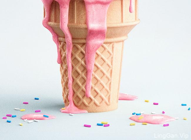 加拿大Pierre Bourjo冰淇淋修图创意设计