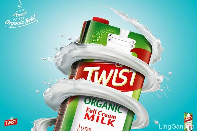 国外Twist牛奶创意平面广告设计