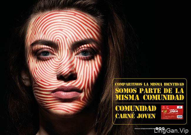 国外Caixa Joven银行青年卡系列创意广告设计