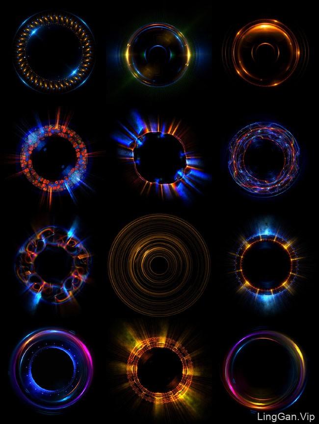又一组国外Dmitriy Rybin光晕光环色彩视觉设计套图