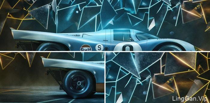 一组国外赛车电脑桌面壁纸创意设计合成