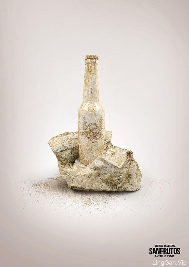 国外SanFrutos精酿啤酒系列平面广告创意设计