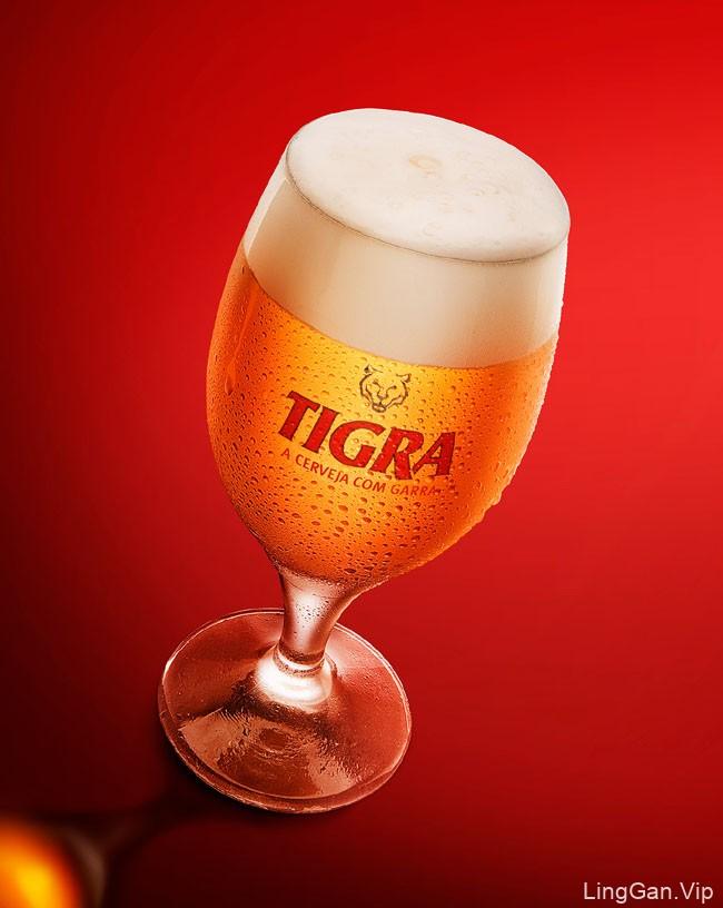 细致精美的国外Tigra啤酒修图设计
