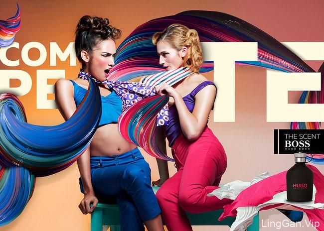 国外HUGO BOSS香水时尚平面广告设计欣赏