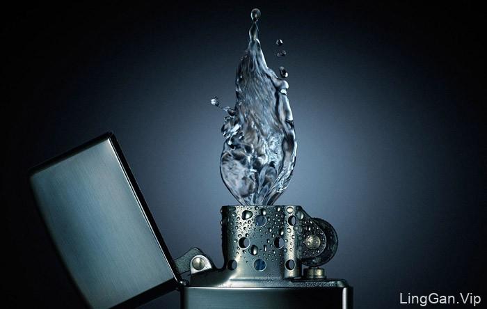 巴西设计师Platinum FMD图像处理作品:水火焰特效