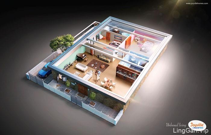 国外Unboxed living系列创意平面广告设计