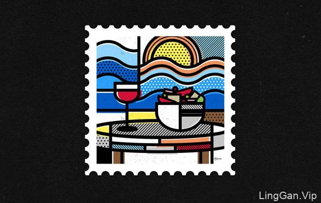 《希腊,我的目的地》国外邮票主题设计作品