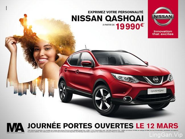 又一套NISSAN汽车系列广告平面合成设计