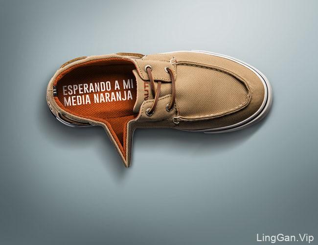 国外bbb鞋品牌趣味平面广告设计