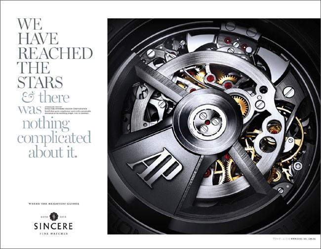 新加坡Sincere Fine腕表表芯平面广告设计