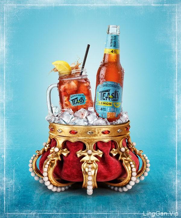 国外Alcoholic冰茶平面宣传广告设计欣赏