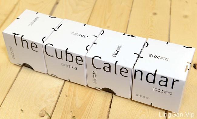 分享一款国外立方体创意日历设计作品