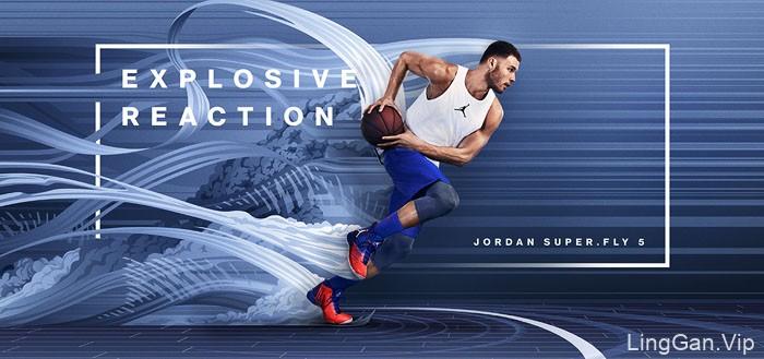 乔丹Jordan Super.Fly 5酷炫的运动鞋视觉设计