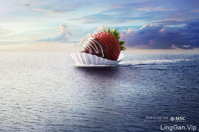 国外MSC cruises地中海邮轮系列创意广告平面设计