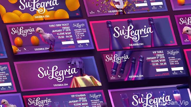 国外Su''Legria音乐节5周年视觉设计欣赏