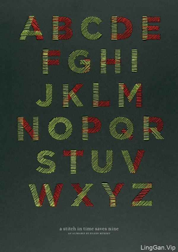 19例优秀的26个英文字母设计作品欣赏