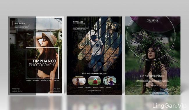国外时尚现代的摄影传单模版设计