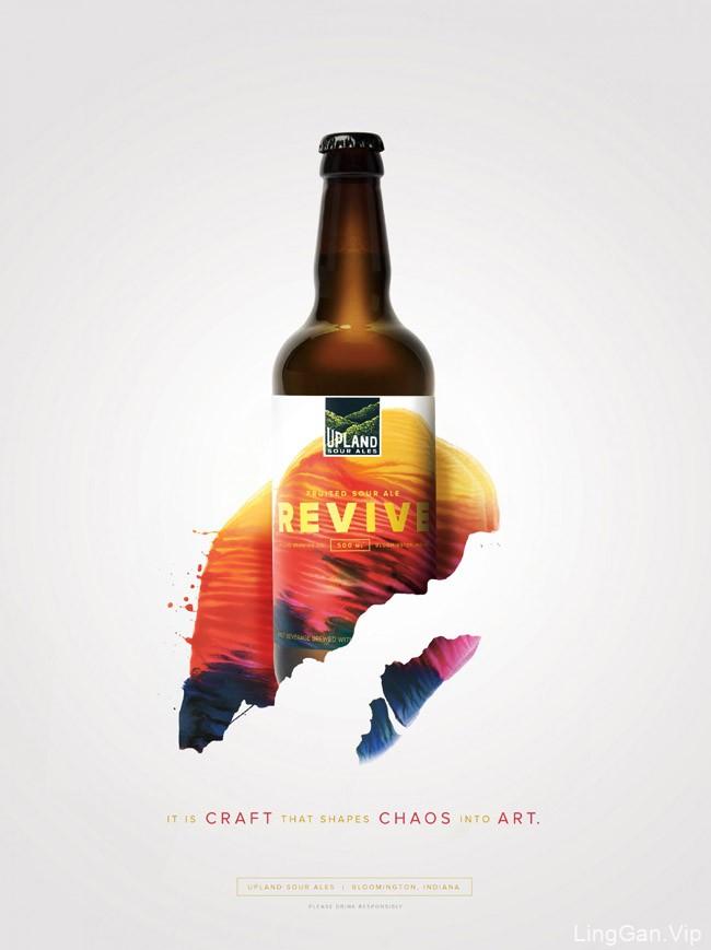 国外Upland果味啤酒系列视觉设计