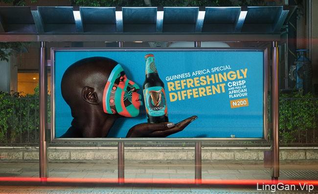 国外Guinness啤酒非洲特色篇视觉设计