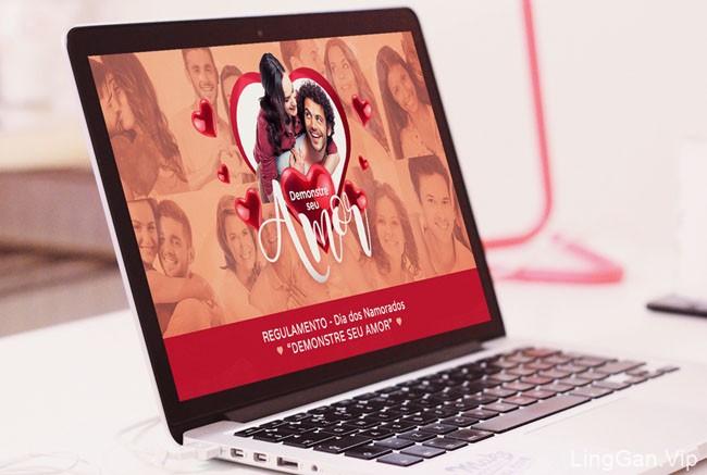 一组国外美丽的情人节主题设计