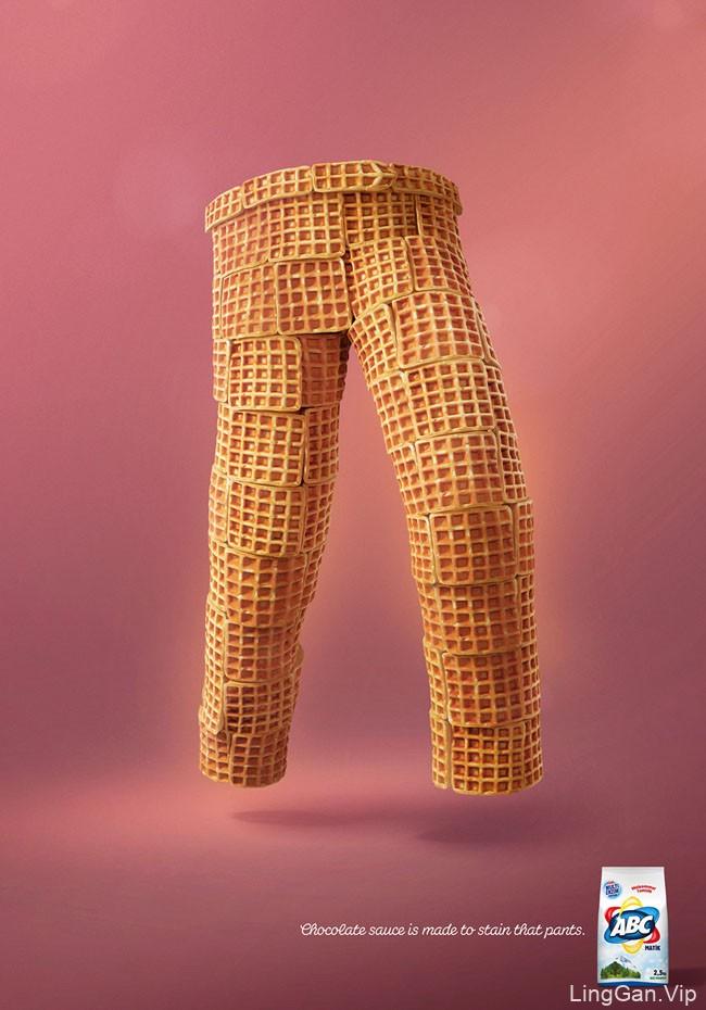 ABC洗衣粉系列创意平面广告设计