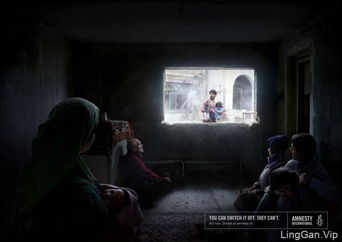 AI国际特赦组织公益宣传广告设计