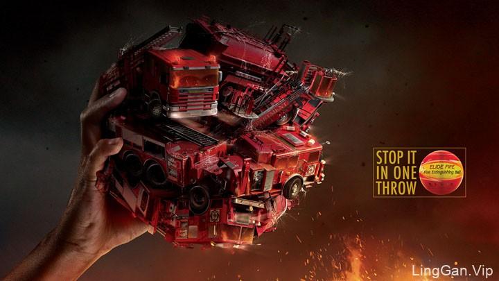 国外Elide fire灭火球系列创意广告设计