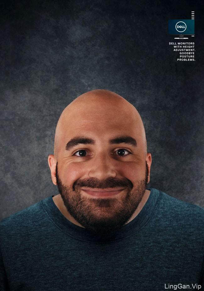 戴尔显示器系列趣味创意广告设计