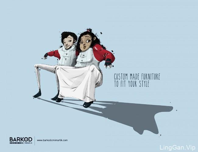 土耳其Barkod家具定制系列趣味创意广告设计