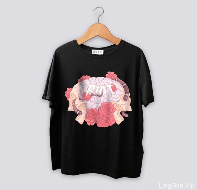 西班牙设计师Mono Blanco的3款时尚T恤图案设计