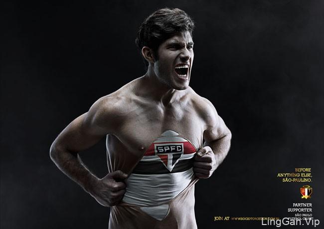 圣保罗足球俱乐部系列创意平面广告设计