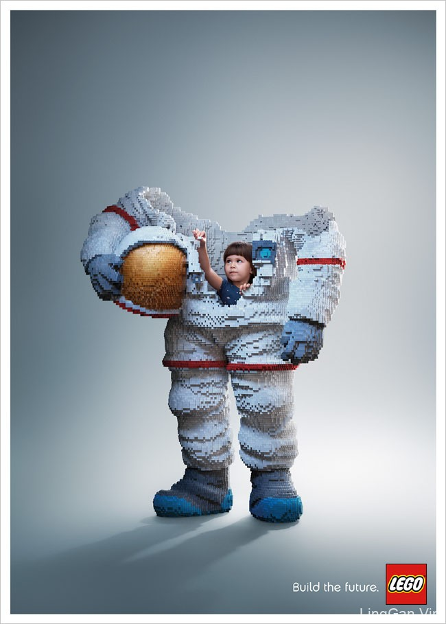 LEGO乐高创意广告设计(6):创造未来