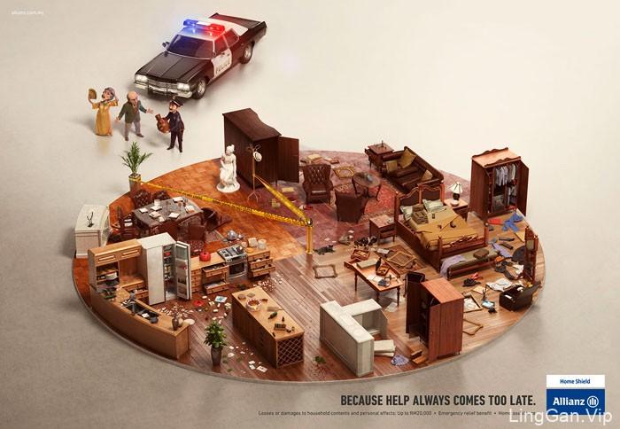 国外Allianz安联保险系列创意平面广告设计