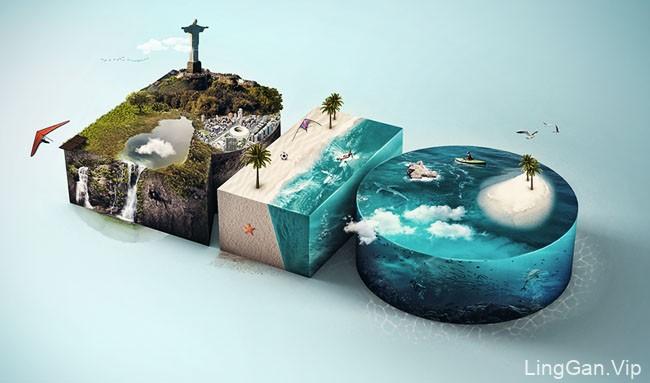 巴西设计师Bianca Carvalho漂亮的数码合成设计