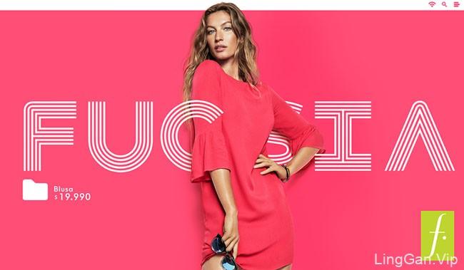国外FUCSIA粉色女式衬衫时尚设计作品