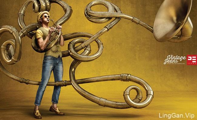 美国设计师Mike Campau人物视觉艺术设计